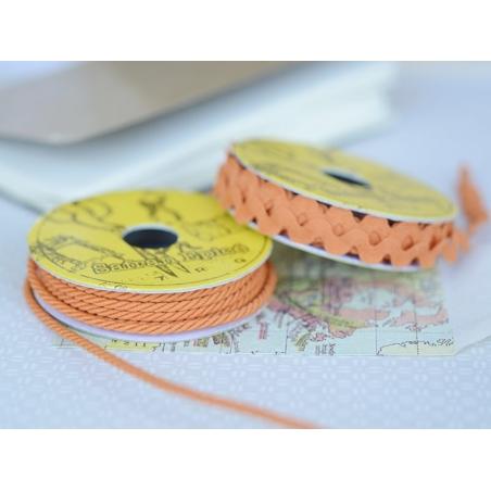Grosgrain ribbon spool (2 m) - Rickrack (9 mm) - orange (colour no. 083)
