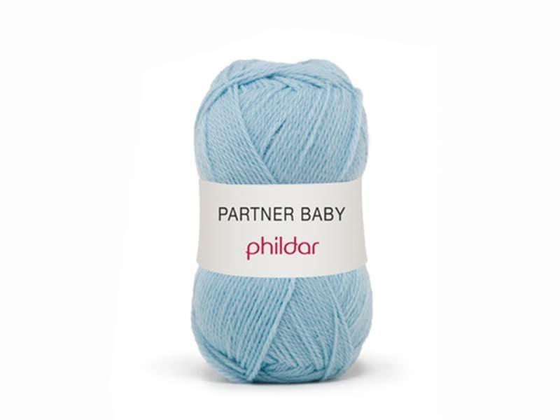Laine à tricoter Partner Baby - Bleu ciel