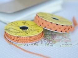 Rolle Zierband (2 m) - Schnur (3 mm) - orange (Farbnr. 083)