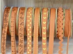 Decorative ribbon spool (2 m) - string (3 mm) - orange (colour no. 083)