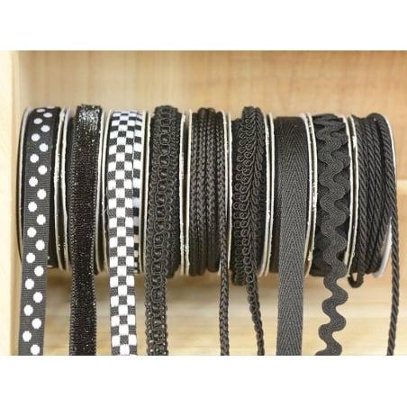 Decorative ribbon spool (2 m) - cord (3 mm) - black (colour no. 014)