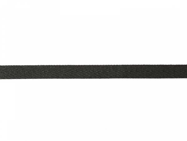 Woven Grosgrain ribbon spool (2 m) - Twill (3 mm) - black (colour no. 014)