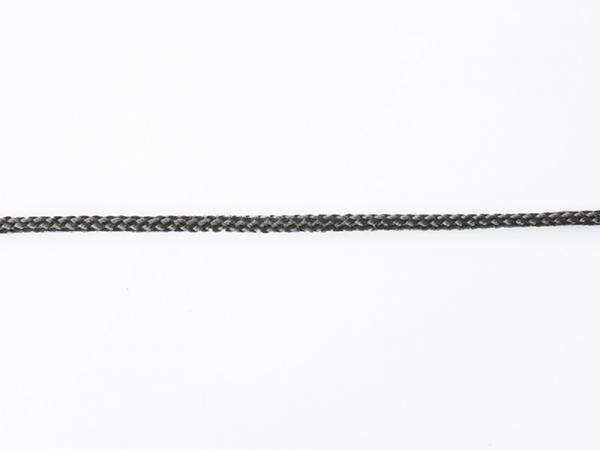 """Bobine 2m de ruban fantaisie """"cordelette"""" 3 mm - anthracite 038"""