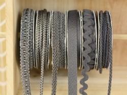 Decorative ribbon spool (2 m) - cord (3 mm) - anthracite grey (colour no. 038)
