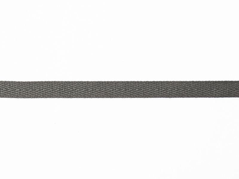 Woven Grosgrain ribbon spool (2 m) - Twill (10 mm) - anthracite grey (colour no. 038)
