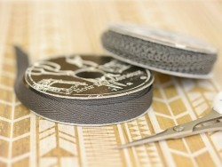 Rolle Ripsband (2 m) - Twill (10 mm) - anthrazitgrau (Farbnr. 038)