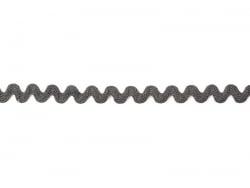 "Bobine 2m de ruban gros grain ""serpentine"" 9 mm - anthracite 038"