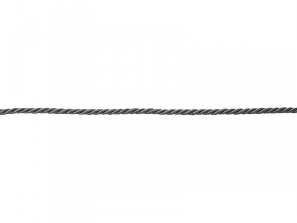 "Bobine 2m de ruban fantaisie ""cordon"" 3 mm - anthracite 038"