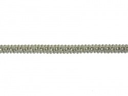 Rolle Zierband (2 m) - Spitze (9 mm) - grau (Farbnr. 031)