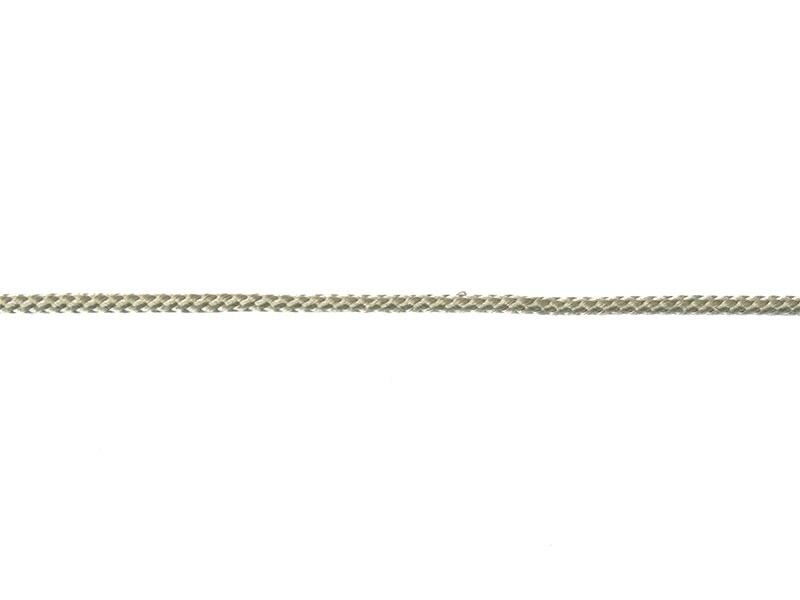Decorative ribbon spool (2 m) - cord (3 mm) - grey (colour no. 031)