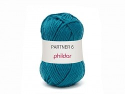 "Knitting wool - ""Partner 6"" - Peacock blue"