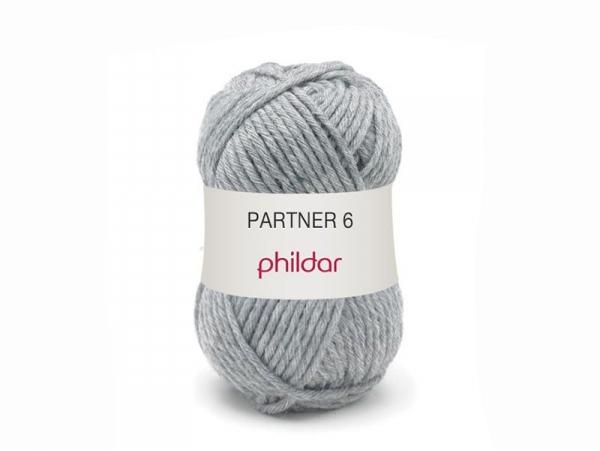 Laine à tricoter Partner 6 - Gris acier