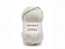 "Knitting wool - ""Partner 6"" - Fog grey"