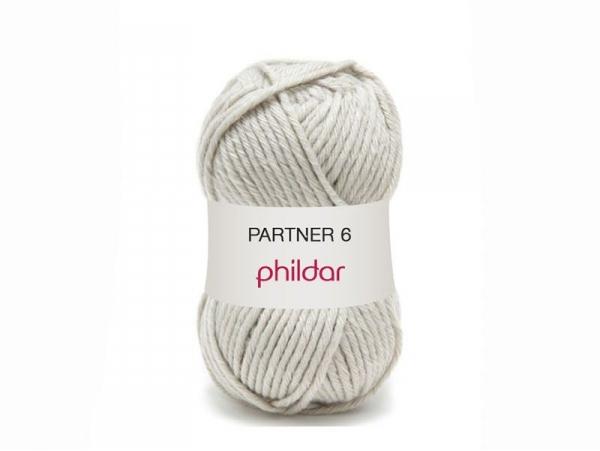 Laine à tricoter Partner 6 - Gris brume