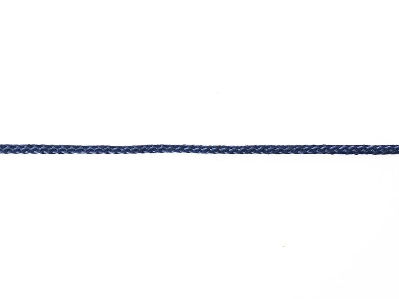 "Bobine 2m de ruban fantaisie ""cordelette"" 3 mm - marine 023"