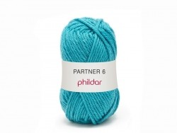 "Knitting wool - ""Partner 6"" - Aqua blue"