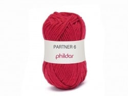 "Knitting wool - ""Partner 6"" - Red"