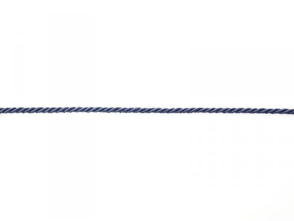 "Bobine 2m de ruban fantaisie ""cordon"" 3 mm - marine 023"