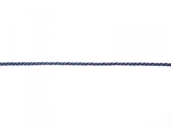 Decorative ribbon spool (2 m) - string (3 mm) - navy blue (colour no. 023)
