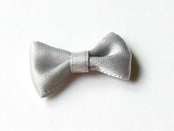 Grey bow - 3 cm