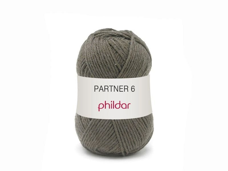 "Knitting wool - ""Partner 6"" - Brown"