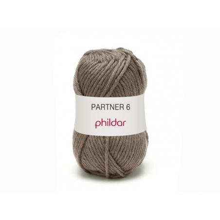 Laine à tricoter Partner 6 - Taupe