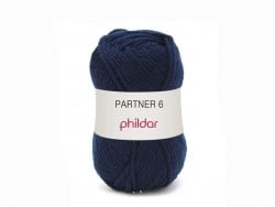 "Knitting wool - ""Partner 6"" - Navy blue"