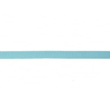 "Bobine 2m de ruban gros grain ""serge"" 10 mm - turquoise 020"