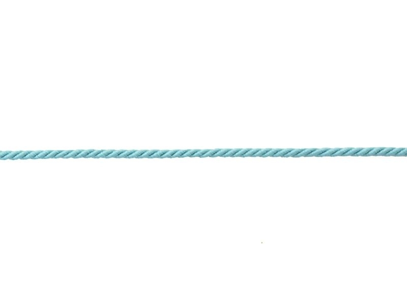 Decorative ribbon spool (2 m) - string (3 mm) - turquoise (colour no. 020)