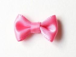 Noeud rose pâle à pois - 3 cm