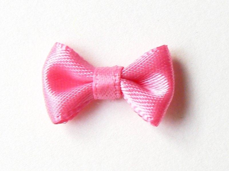 Noeud rose - 3 cm  - 1