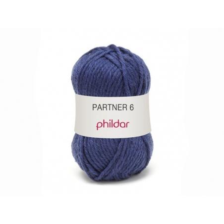 Laine à tricoter Partner 6 - Bleu naval
