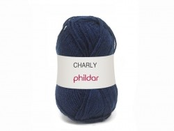 "Knitting wool - ""Charly"" - Navy blue"