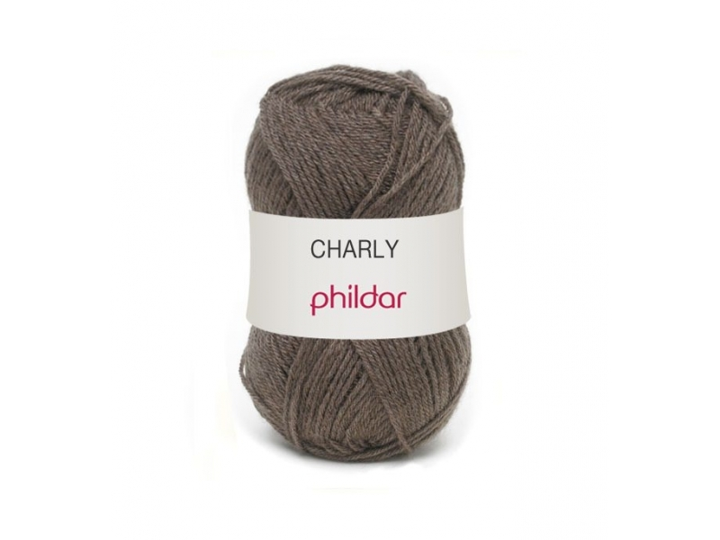 "Knitting wool - ""Charly"" - Teddyt brown"