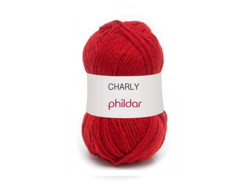 "Knitting wool - ""Charly"" - Cherry red"