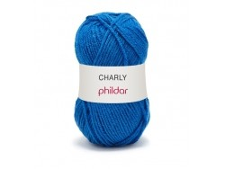 "Knitting wool - ""Charly"" - Ocean blue"