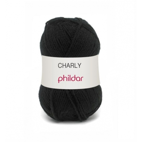 "Knitting wool - ""Charly"" - Black"