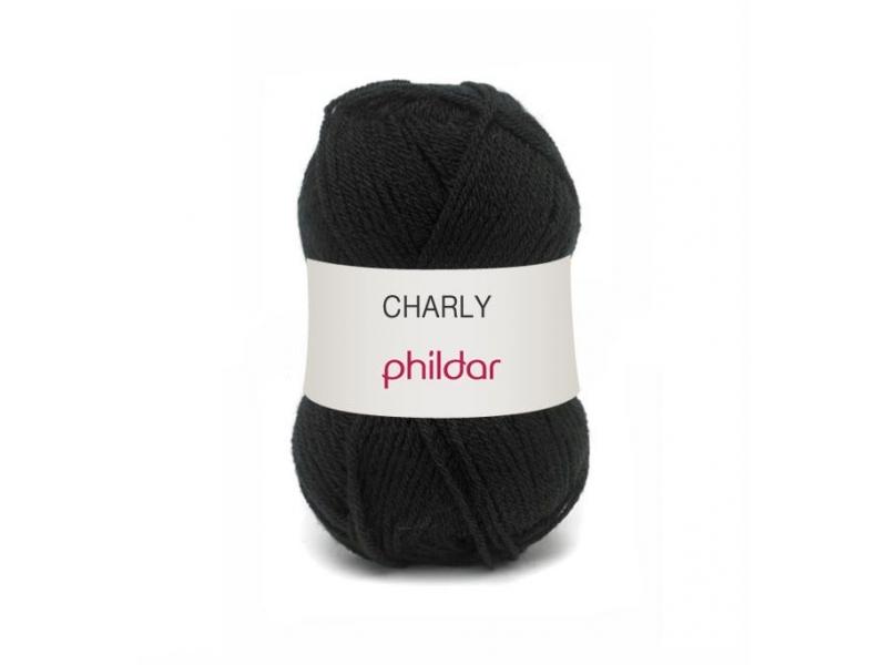 Laine à tricoter Charly - Noir