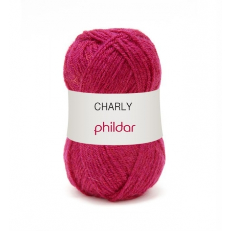 "Knitting wool - ""Charly"" - Fuchsia"