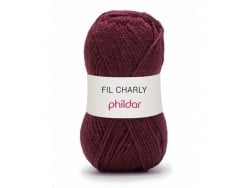 "Strickwolle - ""Charly"" - Bordeauxrot"