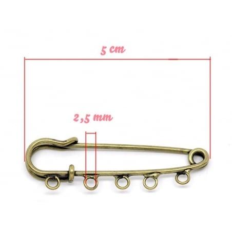 Bronze-coloured customisable brooch - 5 cm