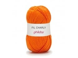 Laine à tricoter Charly - Orange mandarine