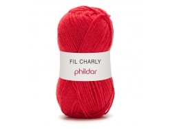 "Knitting wool - ""Charly"" - Poppy red"