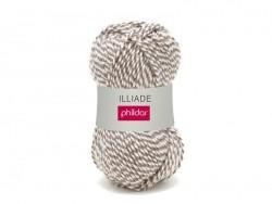 Laine à tricoter Iliade - Rayée Brume
