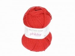 "Knitting wool - ""Partner Baby"" - Cherry red"
