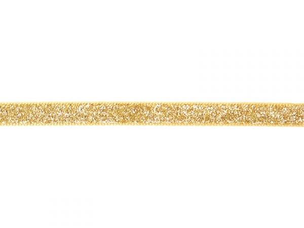 Decorative ribbon spool (2 m) - Glitter (10 mm) - golden (colour no. 103)