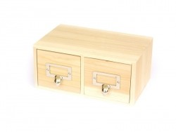 Acheter Boîte 2 tiroirs à customiser - 15,90€ en ligne sur La Petite Epicerie - 100% Loisirs créatifs