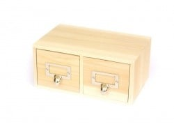 Customisable box with 2 drawers