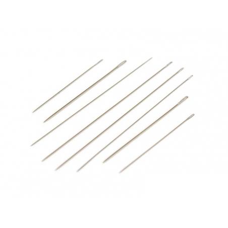8 beading needles