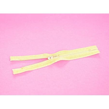Gold-coloured metallic zip - 18 cm